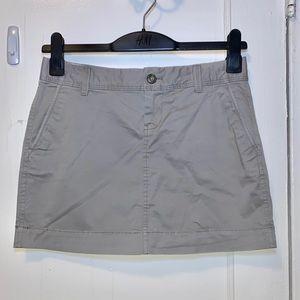 Old Navy Gray Khaki A-Line Mini Skirt Size 2